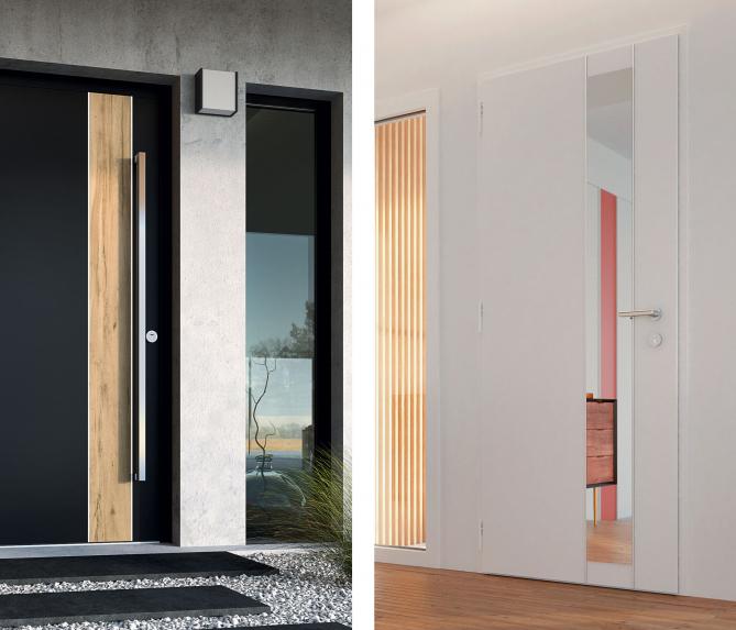 Profitez du design des portes en aluminium